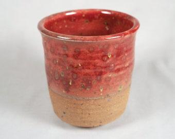Japanese Studio Pottery large yunomi, impressed (old) yàng mark, planter, footed vase