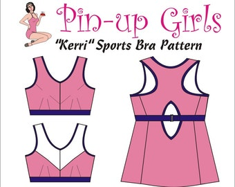 The KERRI Sports bra PATTERN by Pin Up Girls