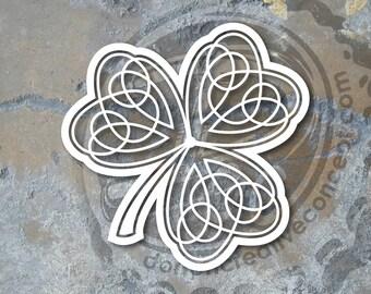 """5""""x5"""" Irish Shamrock Knot Vinyl Decal"""