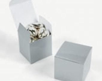 Silver Favor boxes-12 EA