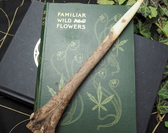 Natural Avalon Yew Wood Wand - For Dark Goddess Work - Pagan, Wicca, Witchcraft, Ogham Tree