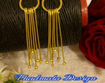 boho wire earring