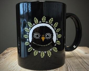Bird Peephole Ceramic Mug