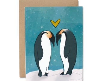 Penguin Love - Love, Friendship, Valentine Card