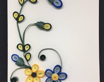 Quilled Card: Vineyard Flowers