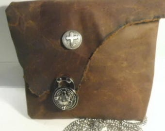 Horween Leather  Cross Body purse / leather cell phone purse/ Horween  Leather Purse