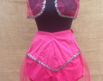 Genie Costume Handmade Vintage Hot Pink and Tule