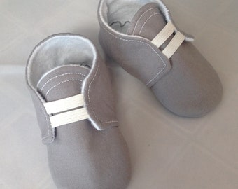Gray Baby Shoes with Elastic | Newborn size up to 18 Months