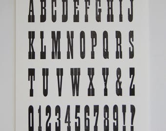Type Specimen Sheets (7) Large Letterpress Print