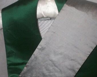 Clergy Stole - Plain Green Silk Satin