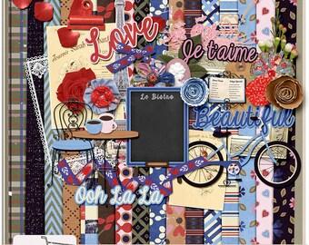 Cafe In Paris Digital Scrapbook Kit