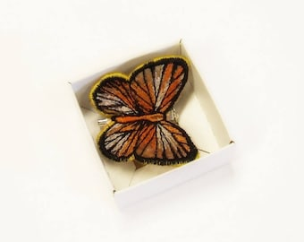 Brooch Butterfly - Embroidered Butterfly