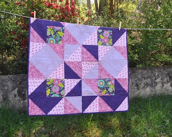 Pink And Purple Baby Quilt