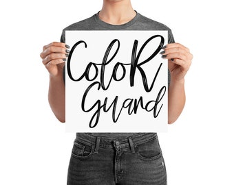 ColorGuard Matte Poster - Color Guard, WinterGuard, Winter Guard