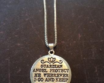 Guardian Angel - Guardian Angel Necklace - Guardian Angel Jewelry - Guardian Angel Gifts - Guardian Angel Pendant - Guardian Angel Prayer