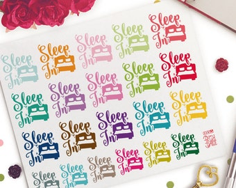 Sleep In Planner Stickers |  Erin Condren | Life Planner | Kikki K | Filofax |