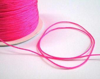 m 1 neon pink nylon string 5 mm