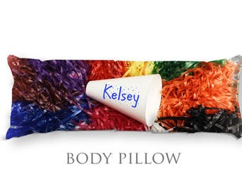 Personalized Body Pillow-Cheer Bed Pillow-Cheerleader Decor-Cheer Body Pillow Cover-Large Pillow Cover-Pom Pom Pillow Cover-Teen Room Decor