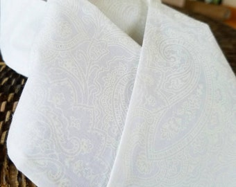 White Paisley - Equestrian Stock Tie