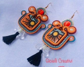 earrings 'sole d'oriente'