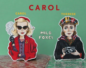 Carol and Therese Brooches from the movie Carol
