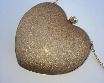Heart Shaped Clutch | Xbody | Minaudiere with Straps