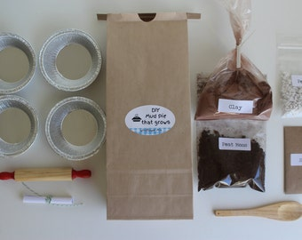 READY To SHIP- Do It Yourself Mud Pie Kit 'that Grows!' - choose from 5 seed options