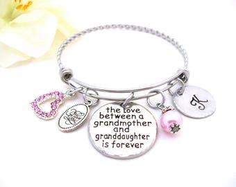 Grandmother and Granddaughter Jewelry, Grandma Bracelet, Granddaughter Bracelet, Grandmother Granddaughter Jewelry, Granddaughter Gift