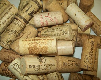 101 Used Wine Bottle Corks from Reds and Whites and from various vintners