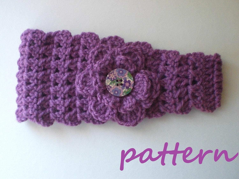 Crochet Headband Earwarmer Pattern. PDF 028.