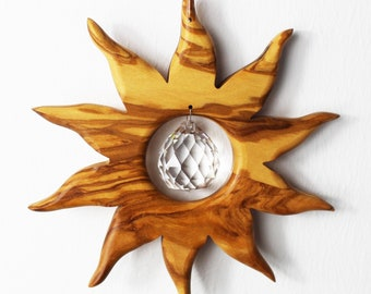 Wooden Decoration | Sun with crystal ball