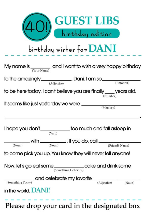 It is a photo of Challenger Happy Birthday Mad Libs Printable