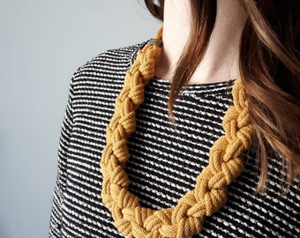 RAE Knotted Necklace // statement // Fiber Jewelry