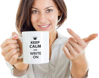 Writer Gift Mug - Keep Calm and Write On