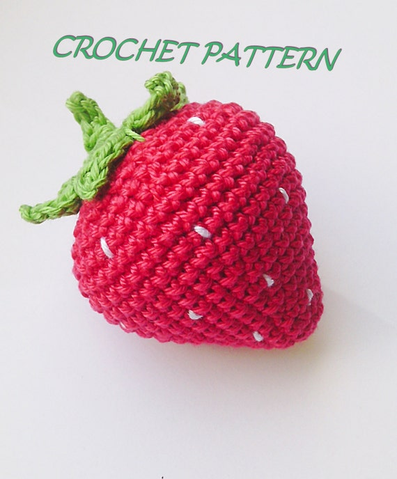 Crochet Strawberry Patternbean Bag Toycrochet Patternstrawberry