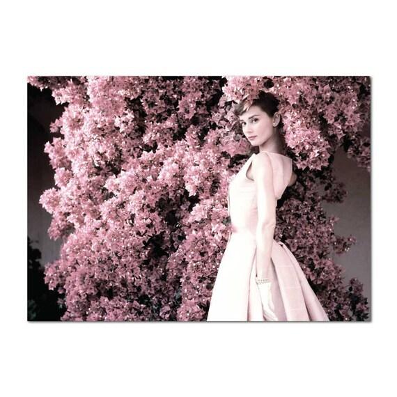 Audrey hepburn pink flowers blush pink rose hydrangea peonies like this item mightylinksfo Choice Image