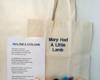 Mary Had A Little Lamb Rhyme Bag