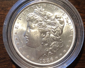 1886 United States Morgan Silver Dollar - Minted in Philadelphia