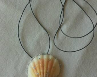Mermaid Sea Shell Pendant Necklace