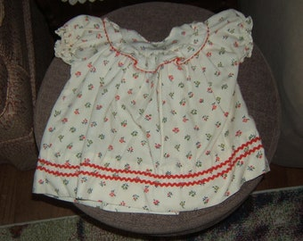 Kate Greenaway 12Mos. Girl's Dress Vintage 1950s