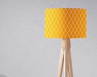 Yellow Lamp Shade, Yellow Home Decor, Lampshade, Drum Lamp Shade, Yellow  Nursery