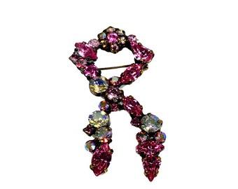 Pink Swarovski Breast Cancer Pin