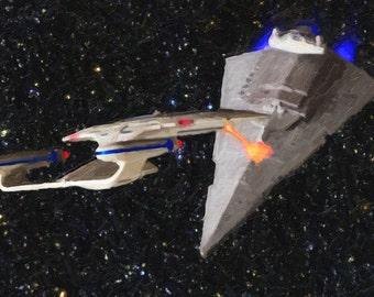 Star Trek versus Star Wars:  The big ships