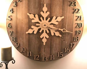 Christmas Countdown Faux Clock