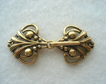 Fantastically Popular Gold Shawl Clasp, Metal Fastener Clasp, Two Part Fastener, Great Value!! MB45