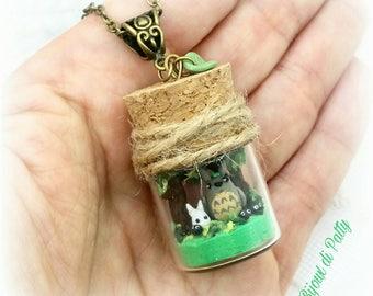Collana con ampolla Totoro and friends