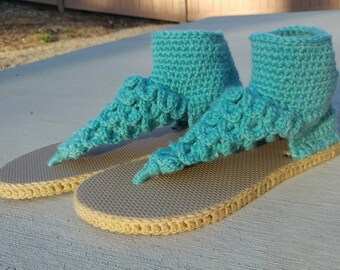 Crochet Boho Dreamz Crocodile Stitch Sandals Outdoor Version Made to Order