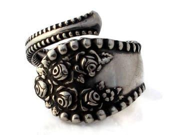 Lancaster Rose Sterling Demitasse Wrap Ring