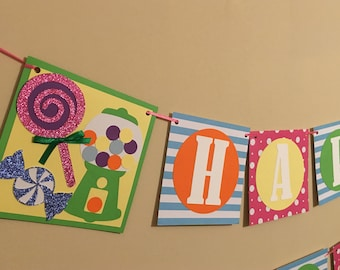 Sweet Shoppe Banner, Candy Banner, Candy Land Banner