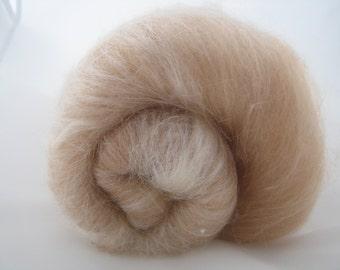 Baby Camel Merino Silk Batts 100g / Natural Undyed Spinning Fiber / Luxury Spinning Fiber